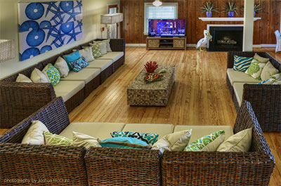 Living Room spaces at The Cottage