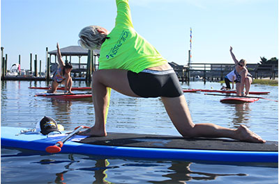 Yoga on the water | Coastal Adventures with Blockade Runner