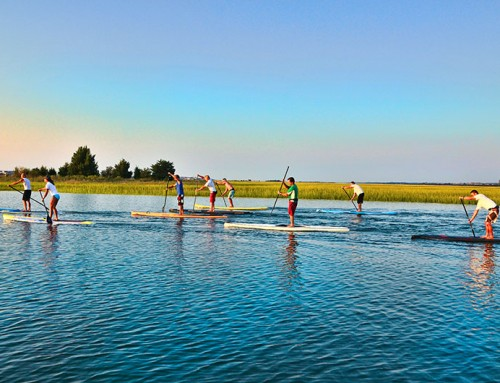 Stand up paddleboard as a group