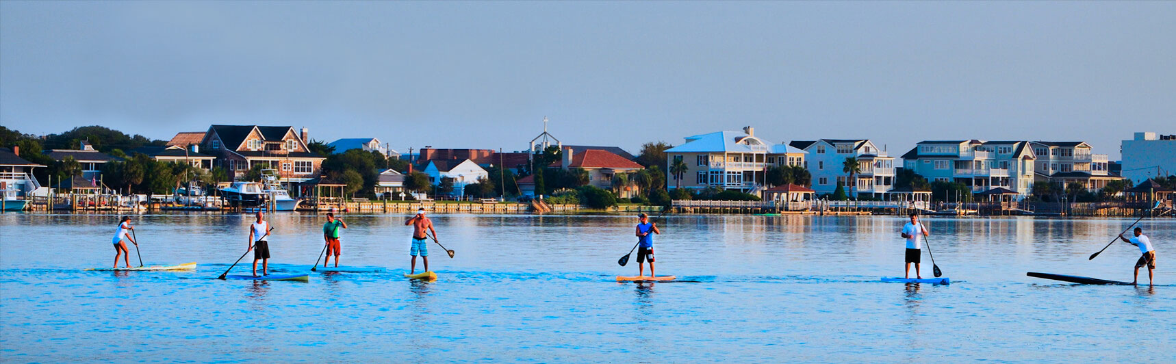 Stand Up Paddle board at the Blockade Runner