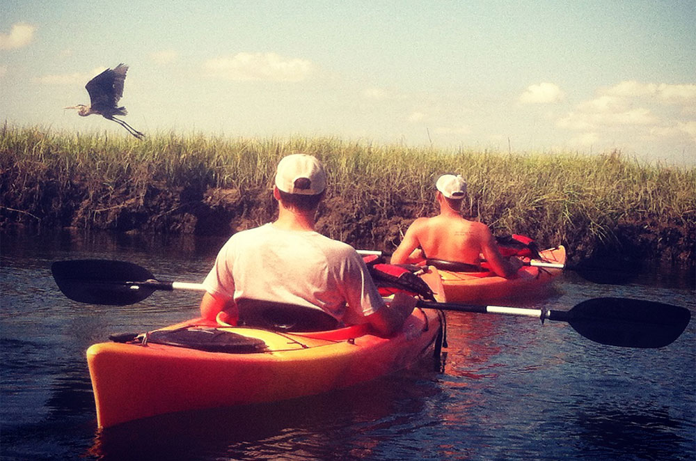 Kayak adventures at Blockade Runner
