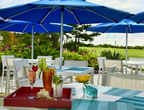 Poolside Bar and Tables